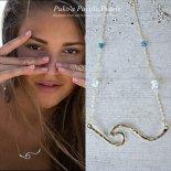 アクアマリン ノースショア ウェーブ ネックレス [ Pukoa Pacific Pearls / ハワイ ] [海外受注]