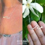 ウェーブ バー スターリング シルバー S925 ネックレス from ハワイ [Wave Jewelry by MS] 海外受注