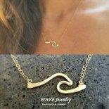 ウェーブ バー ゴールド 14KGF ネックレス from ハワイ [Wave Jewelry by MS] 海外受注