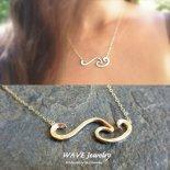 エンドレス ウェーブ バー ゴールド 14KGF ネックレス from ハワイ [Wave Jewelry by MS] 海外受注