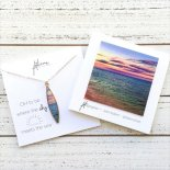 WHERE THE SKY MEETS THE SEA ネックレス [ foterra / PHOTO EARTH JEWELRY ハワイ ] 海外受注