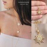 Sunburst(太陽)ゴールド ネックレス [Customized Jewelry / カスタマイズ ジュエリー] 海外受注