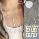 選べるダブルイニシャル インフィニティ ゴールド レイヤード ネックレス [Customize Jewelry / カスタマイズ ジュエリー] 海外受注