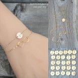 選べるイニシャル インフィニティ ラップ ゴールド ブレスレット [Customize Jewelry / カスタマイズ ジュエリー] 海外受注