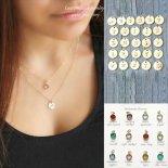 [2本セット] 選べるイニシャル & 誕生石 ゴールド レイヤード ネックレス [Customize Jewelry / カスタマイズ ジュエリー] 海外受注