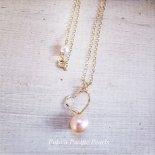 ピンク パール ハート ネックレス ゴールド [ Pukoa Pacific Pearls / ハワイ ] [海外受注]