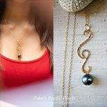 バーティカル ノースショア ウェーブ ブラックパール ネックレス [ Pukoa Pacific Pearls / ハワイ ] [海外受注]