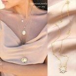 スターバースト きらきらCZ ゴールド ネックレス [Customized Jewelry / カスタマイズ ジュエリー] 海外受注