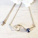 ブラックパール ノースショア ウェーブ ネックレス [ Pukoa Pacific Pearls / ハワイ ] [海外受注]