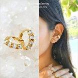 オパール HUGGIE フープ ゴールド ピアス [Customized Jewelry / カスタマイズ ジュエリー] 海外受注