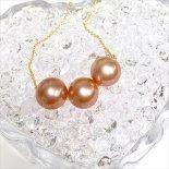 トリプル ピンク パール ネックレス [ Maimoda Jewelry / マイモダジュエリー ハワイ] [海外受注] (N156)