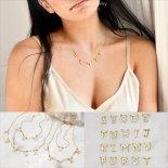 イニシャル レター ネーム ゴールド ネックレス [Customized Jewelry / カスタマイズ ジュエリー] 海外受注