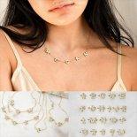 きらきら イニシャル レター ネーム ゴールド ネックレス [Customized Jewelry / カスタマイズ ジュエリー] 海外受注