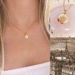 タイニー スパークル きらきらCZ メダル ゴールド ネックレス [K at Paris] 海外受注