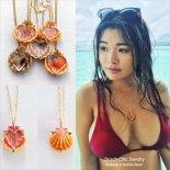 サンライズシェル ハート バック マーメイド ネックレス [Beach Chic Jewelry Honolulu Hawaii] 海外受注
