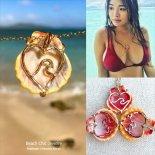 サンライズシェル ウェーブ in ハート マーメイド ネックレス [Beach Chic Jewelry Honolulu Hawaii] 海外受注