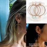 アクアマリン / ローズクォーツ マーメイド フープ ピアス [Beach Chic Jewelry Honolulu Hawaii] 海外受注