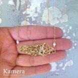 シーフォーム ビーチ ネックレス ゴールド 14K Vermail [ Kamera Jewelry / カメラジュエリー ハワイ ]