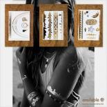 数量限定 タトゥーシールセット[E,D,C] ハワイ ネックレス ブレスレット アンクレット リング カフス