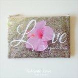 Hibiscus Love  ビーチ クラッチ  [ tidepoollove / タイドプールラブ ]  ハワイ