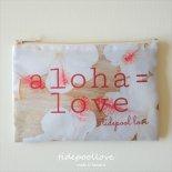 Aloha = Love  ビーチ クラッチ  [ tidepoollove / タイドプールラブ ]  ハワイ