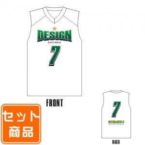 キッズ用 ナンバーリングTシャツ(バスケ) 010