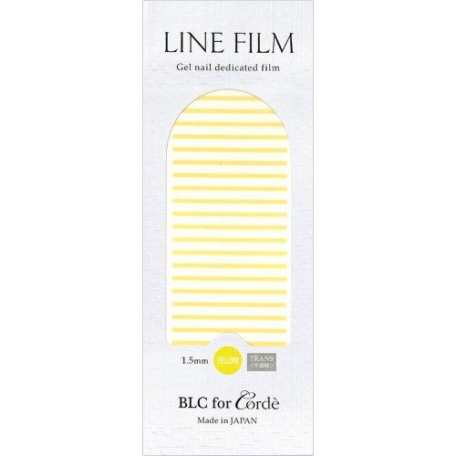 BLC for CORDE ラインフィルム 1.5mm×40mm 21本 イエロー(不透明)