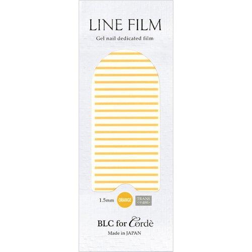 BLC for CORDE ラインフィルム 1.5mm×40mm 21本 オレンジ(不透明)