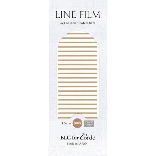 BLC for CORDE ラインフィルム 1.5mm×40mm 21本 ブラウン(不透明)
