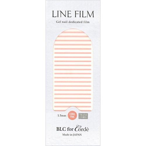BLC for CORDE ラインフィルム 1.5mm×40mm 21本 コーラルピンク(不透明)