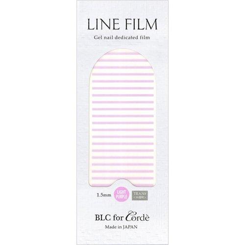 BLC for CORDE ラインフィルム 1.5mm×40mm 21本 ライトパープル(不透明)