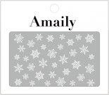 ネイルシール Amaily アメイリー No.3-15 雪の結晶 ホワイト