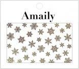 ネイルシール Amaily アメイリー No.3-16 雪の結晶 ゴールド