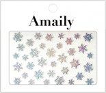 ネイルシール Amaily アメイリー No.8-9 雪の結晶 オーロラシルバー