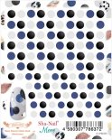 ネイルシール Sha-Nail More 写ネイルモア MSD-002 Sheer Dots by Fabric Book (Monotone)