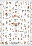 ネイルシール Sha-Nail Pro 写ネイルPro EF-001 Embroidery Flowers / エンブロイダリー フラワーズ