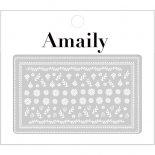 ネイルシール Amaily アメイリー No.3-21 フォークロア調 ホワイト