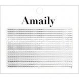 ネイルシール Amaily アメイリー No.5-20 飾りライン シルバー