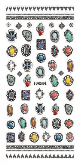 ネイルシール TSUMEKIRA ツメキラ SG-FNS-101 ガーラコレクション FUNSIDE プロデュース Indian Jewelry 2枚入 (ジェル専…
