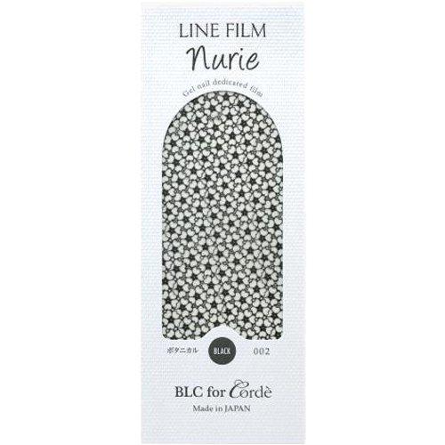 BLC for CORDE ラインフィルム ヌリエ ボタニカル 002 ブラック