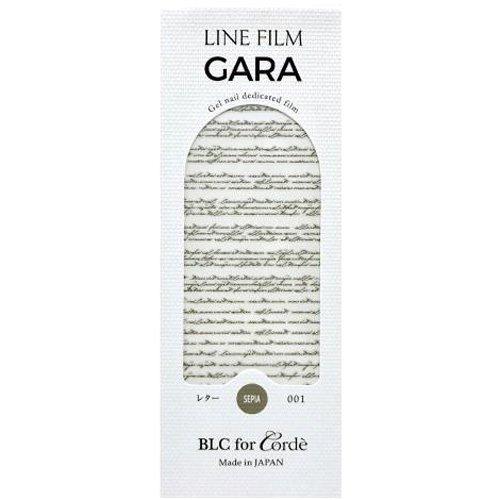 BLC for CORDE ラインフィルム GARA レター 001 セピア