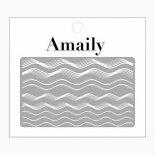 ネイルシール Amaily アメイリー No.5-24 ウェーブ ホワイト