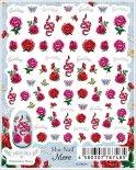 ネイルシール Sha-Nail More 写ネイルモア MEM-001 Embroidery Roses / エンブロイダリー ローズ