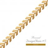BonNail ボンネイル デザインチェーン 6mm×20cm #5 ゴールド