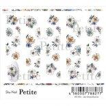 ネイルシール Sha-Nail Petite 写ネイル プチ PET-004 Line Dessin Flowers / ライン デッサン フラワーズ