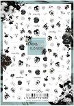 ネイルシール Sha-Nail Pro 写ネイルPro BWF-001 Black&White Flowers / ブラック&ホワイト フラワー