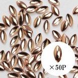 SHAREYDVA シャレドワ スタッズ リーフ 1.5mm×3mm 50個 ピンクゴールド