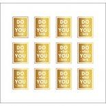 ネイルシール PARTS SHA-NAIL パーツ 写ネイル PA-001g Square Label A [G] / スクエアラベル A ゴールド
