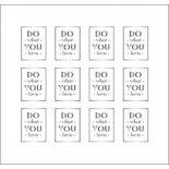 ネイルシール PARTS SHA-NAIL パーツ 写ネイル PA-002s Square Label B [S] / スクエアラベル B シルバー