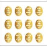 ネイルシール PARTS SHA-NAIL パーツ 写ネイル PA-003g Oval Label A [G] / オーバルラベル A ゴールド